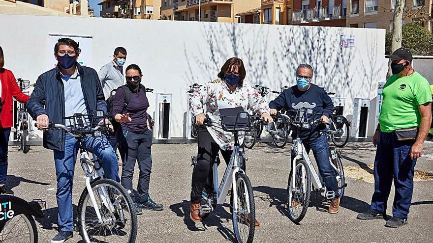 Las bicis eléctricas de Ontinyent registran mil usos en 3 semanas
