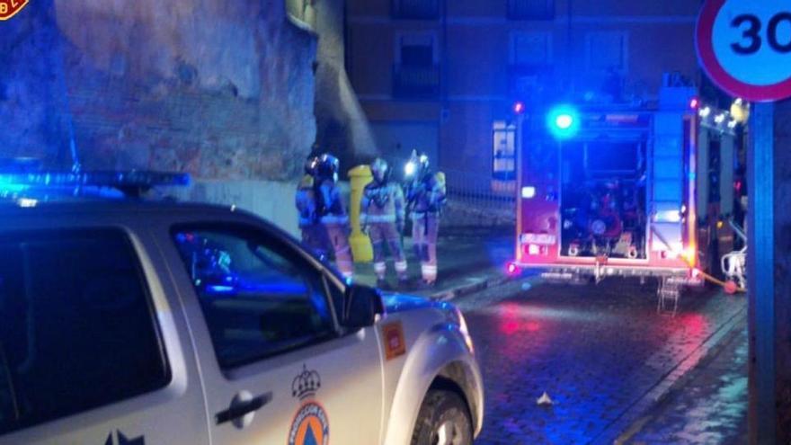 Un muerto y tres heridos en el incendio de una vivienda en Calatayud