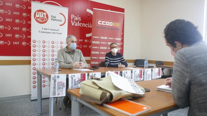 Castellón recupera la reivindicación sindical en la calle por el 1 de Mayo