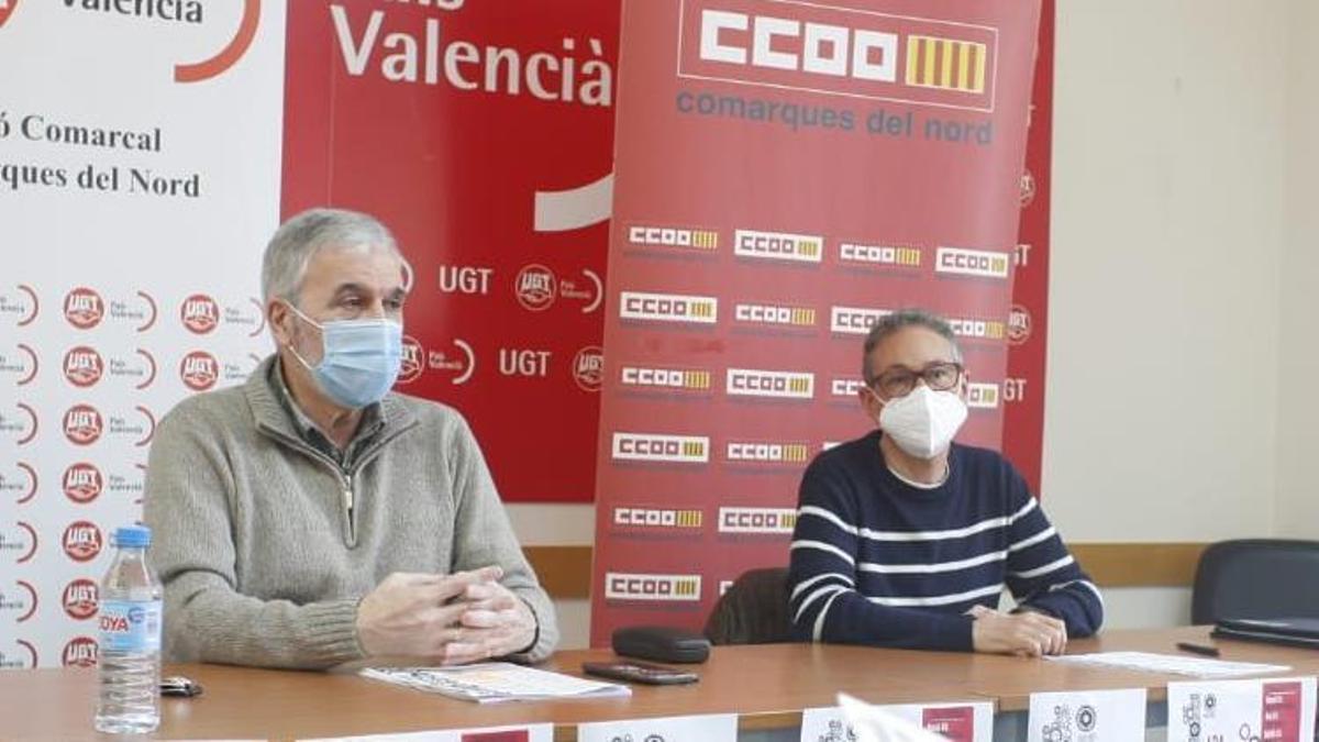 Presentación de los actos del 1 de Mayo en Castellón por parte de CCOO y UGT