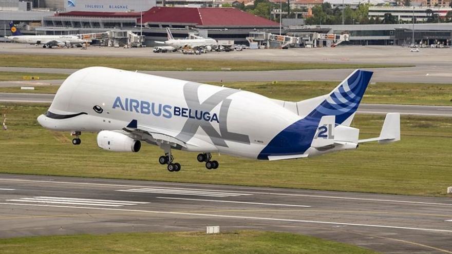 Airbus cancela las pruebas en el aeropuerto de Vigo de su gigante avión Beluga XL