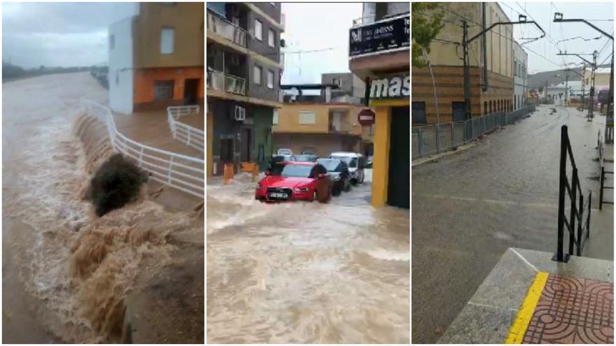 La lluvia desborda los municipios de La Ribera