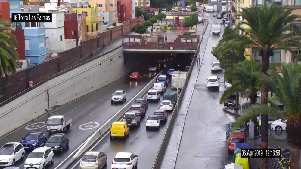 Lluvia en el Julio Luengo.