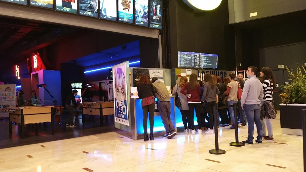 Las taquillas de los cines de Nueva Condomina.