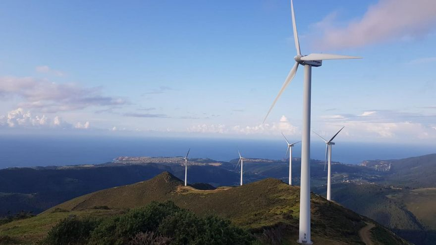 La energía eólica, por la que apuesta Asturias, alcanza su mayor cota de producción