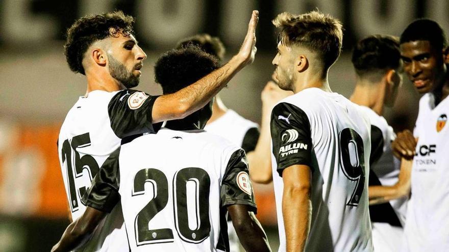 El Valencia Mestalla arranca con paso firme (3-1)