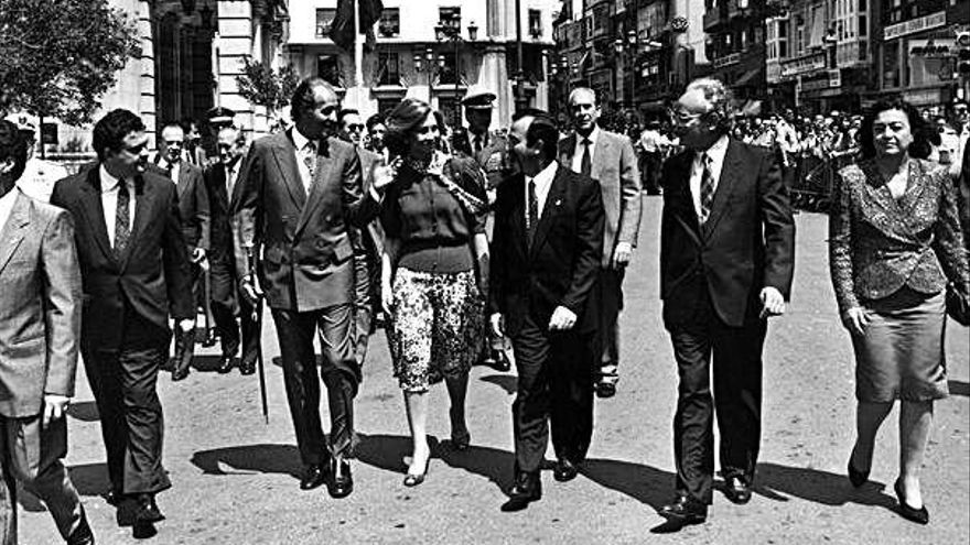 Juan Carlos I es una figura muy vinculada a la Región