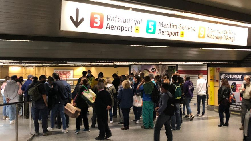Retrasos en Metrovalencia: el metro afectado por las lluvias y el tiempo en Valencia
