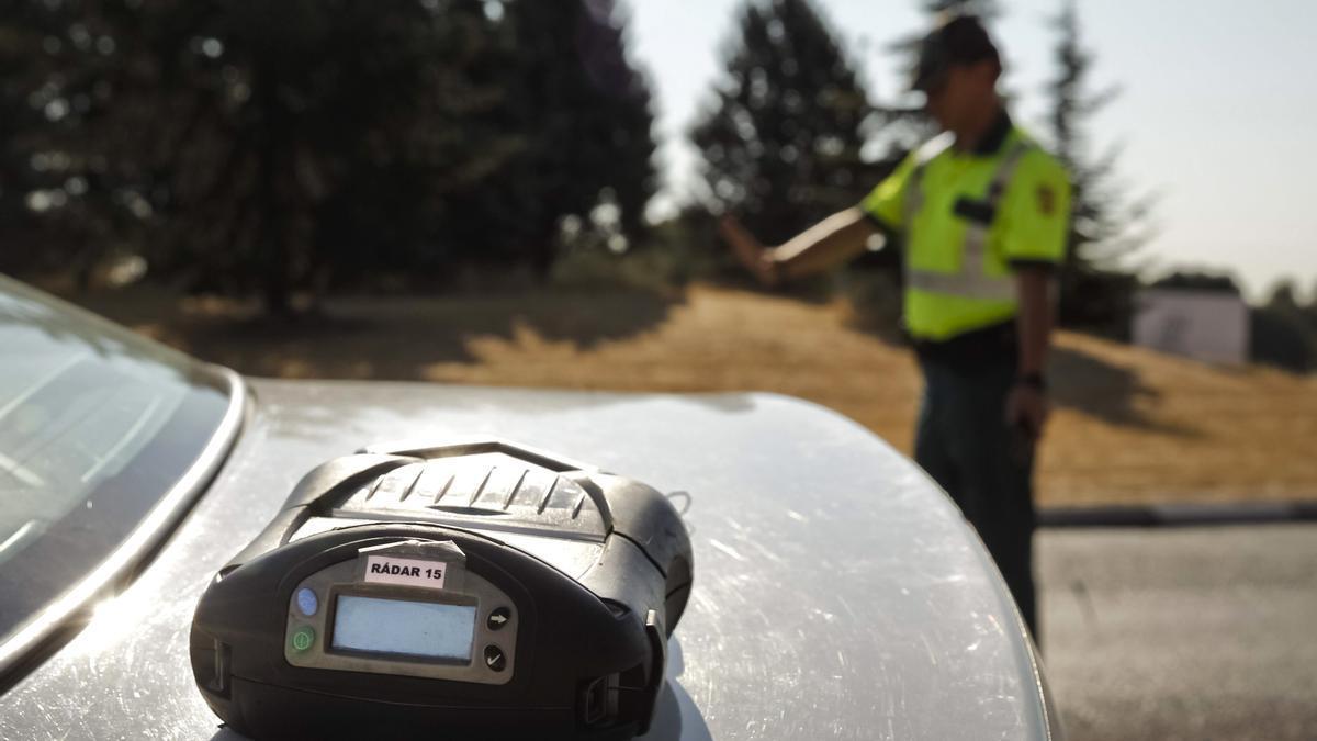 Un radar de la Policía en Madrid.