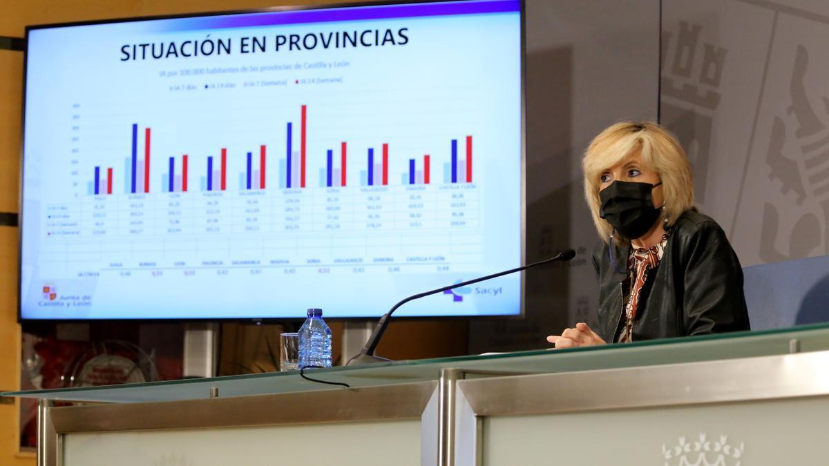 La consejera de Sanidad, Verónica Casado, comparece en rueda de prensa posterior al Consejo de Gobierno extraordinario.