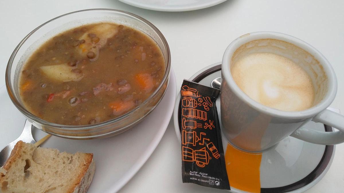 El café con lentejas viral de Xabier Rodríguez