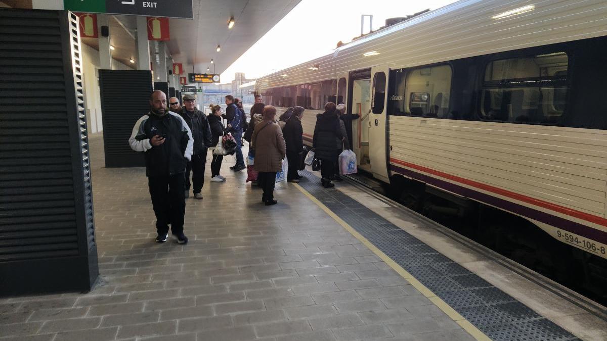 Estación de trenes de Zamora antes de la pandemia.