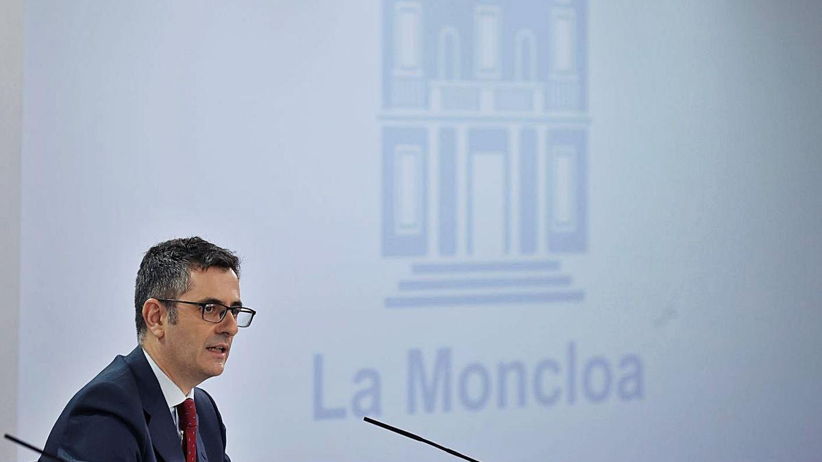 Félix Bolaños, ministre de la Presidència, Memòria Democràtica i relacions amb les Corts. | EFE