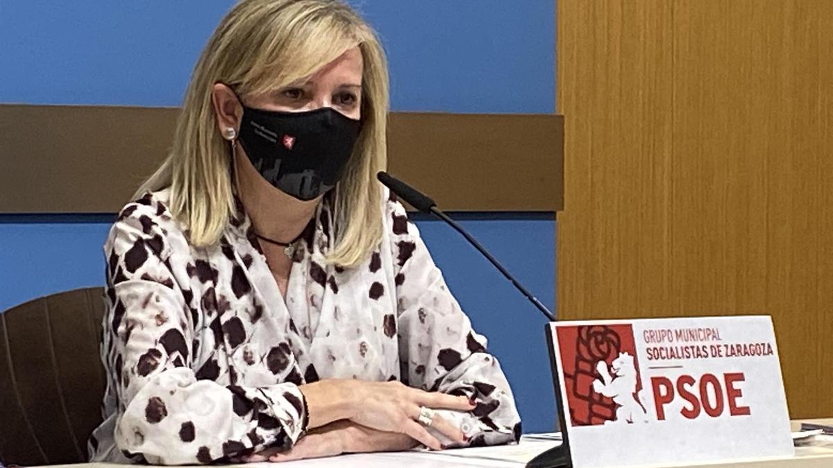 La concejala del PSOE en Zaragoza María Ángeles Ortiz.