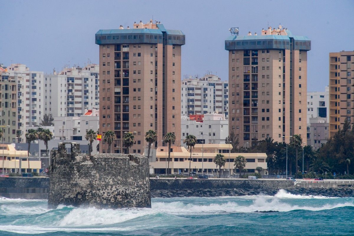 Oleaje en San Cristóbal (9/7/2021)