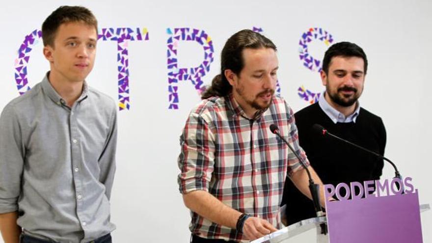 Iglesias anuncia una candidatura unitaria en la Comunidad de Madrid con Errejón y Espinar
