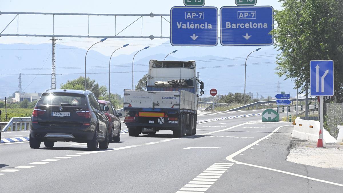 Acceso a la autopista AP-7 a la altura de Castellón sur.