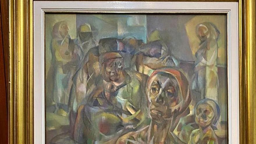 Un particular dona al Concello un cuadro del pintor Rivas Briones