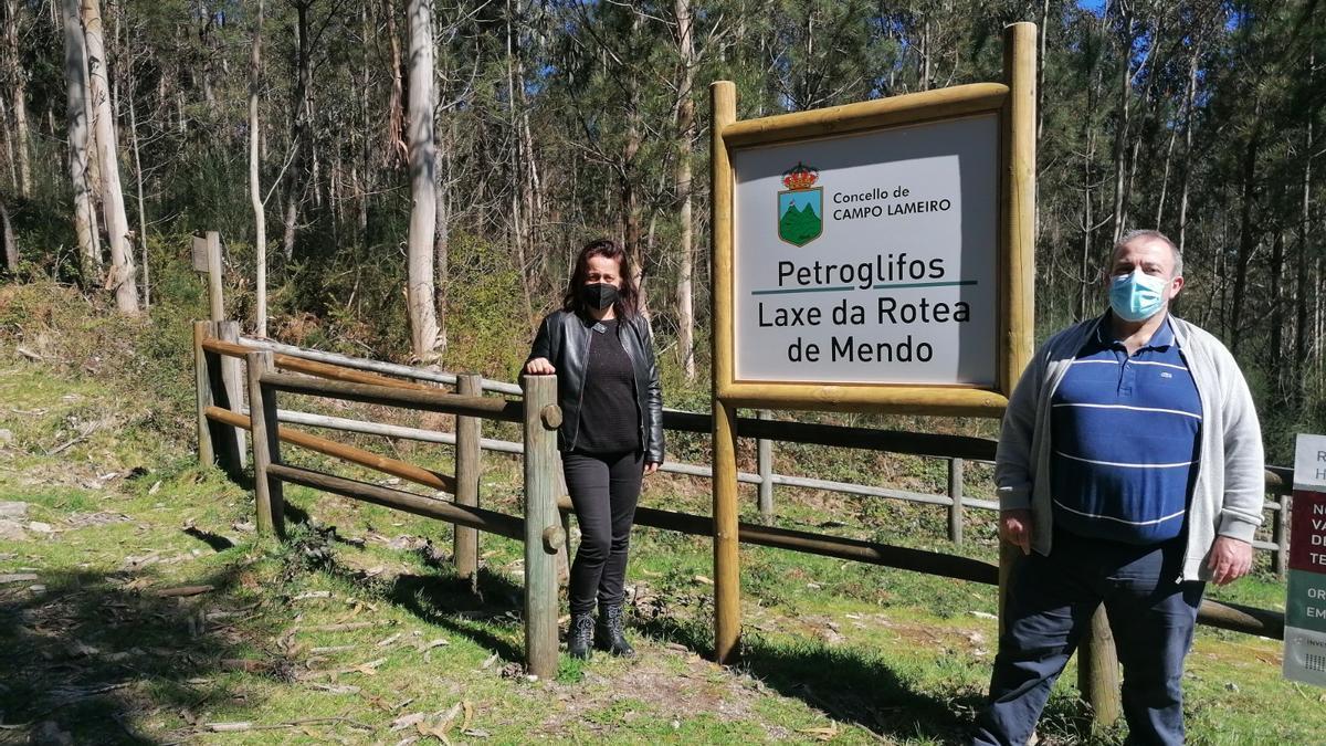 Uno de los paneles indicativos instalados en Campo Lameiro