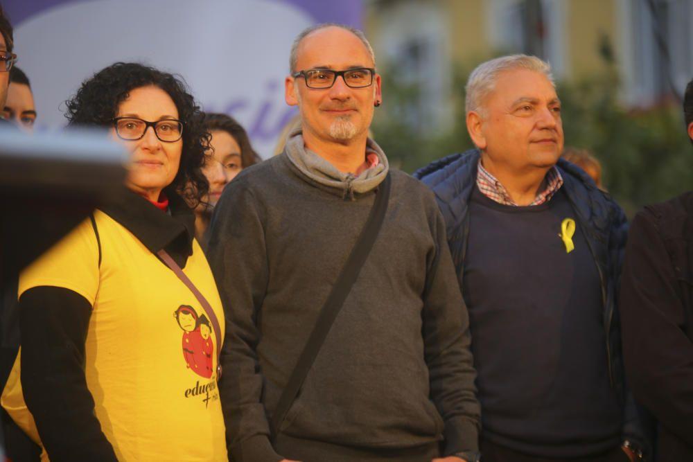 Concentración de Escola Valenciana en València