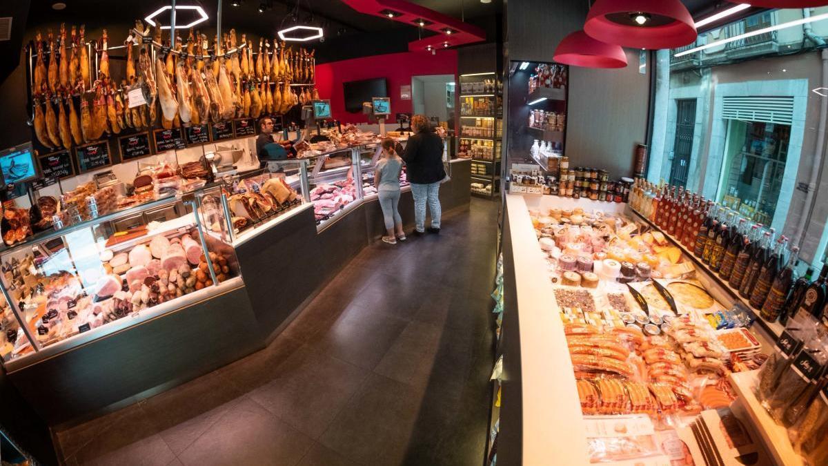 Interior de la botiga de Can Martí de Figueres.