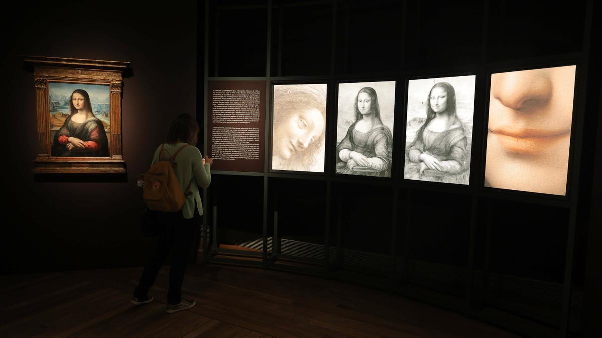 Una imagen de las muestras de la exposición 'Leonardo y la copia de la Mona Lisa. Nuevos planteamientos sobre la práctica del taller vinciano'.