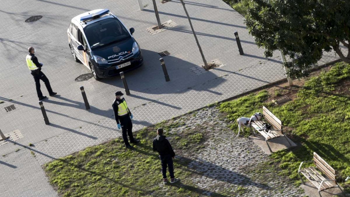 La patrulla que impuso la sanción/rafa andrés