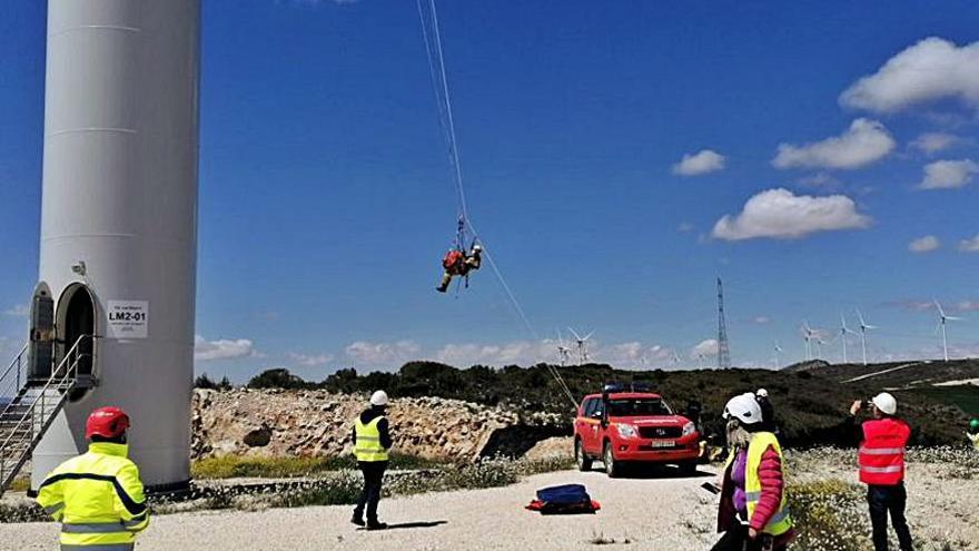 El parque Las Majas vive un simulacro de rescate