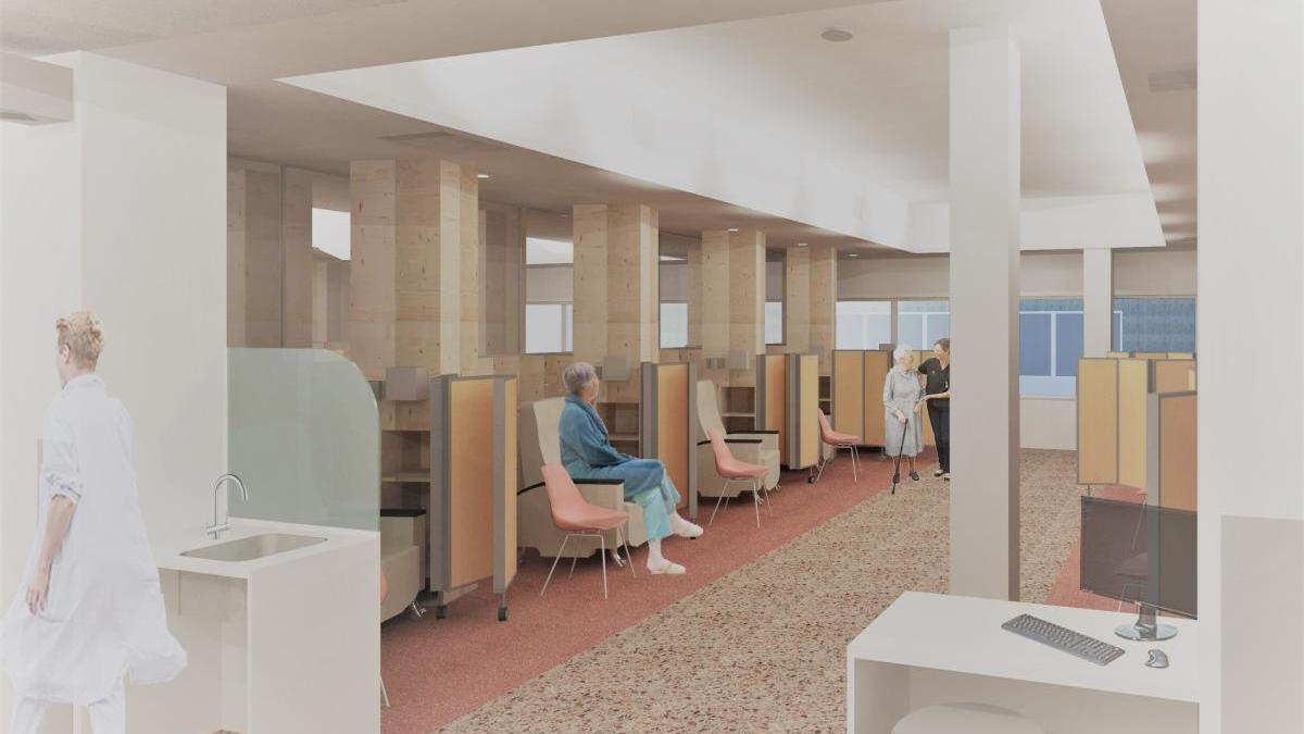Així serà un dels espais del projecte de reforma i ampliació de l'hospital de dia de l'Hospital Santa Caterina