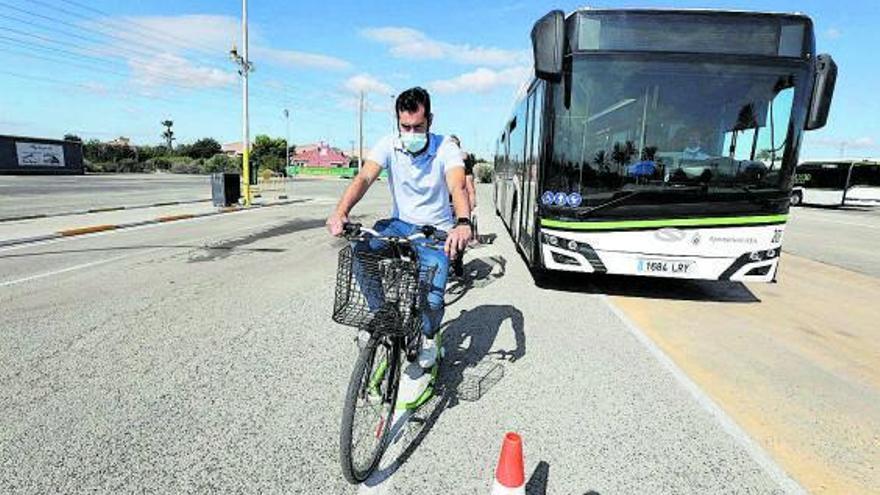 Lo que siente un ciclista cerca de un bus
