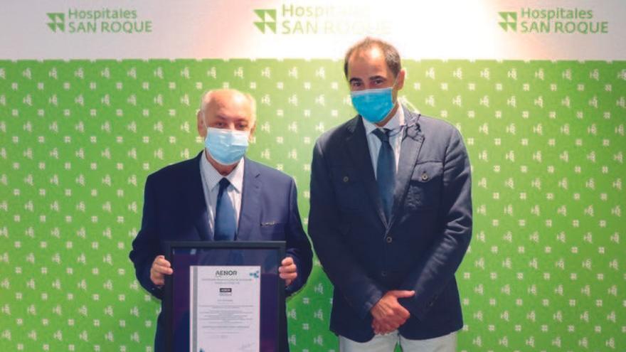 Hospitales Universitarios San Roque, pionero en certificación AENOR de la COVID19
