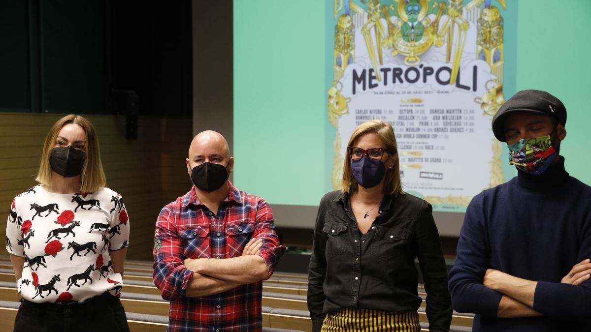 La presentación del cartel de actividades de Metrópoli.