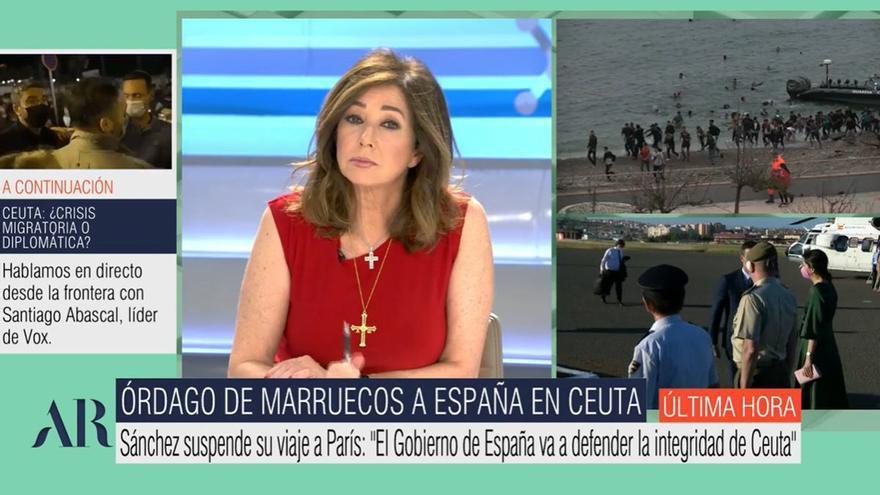"""Ana Rosa, sobre la crisis en Ceuta: """"La reacción de Sánchez fue inmediata, pero tenemos un Gobierno muy débil"""""""