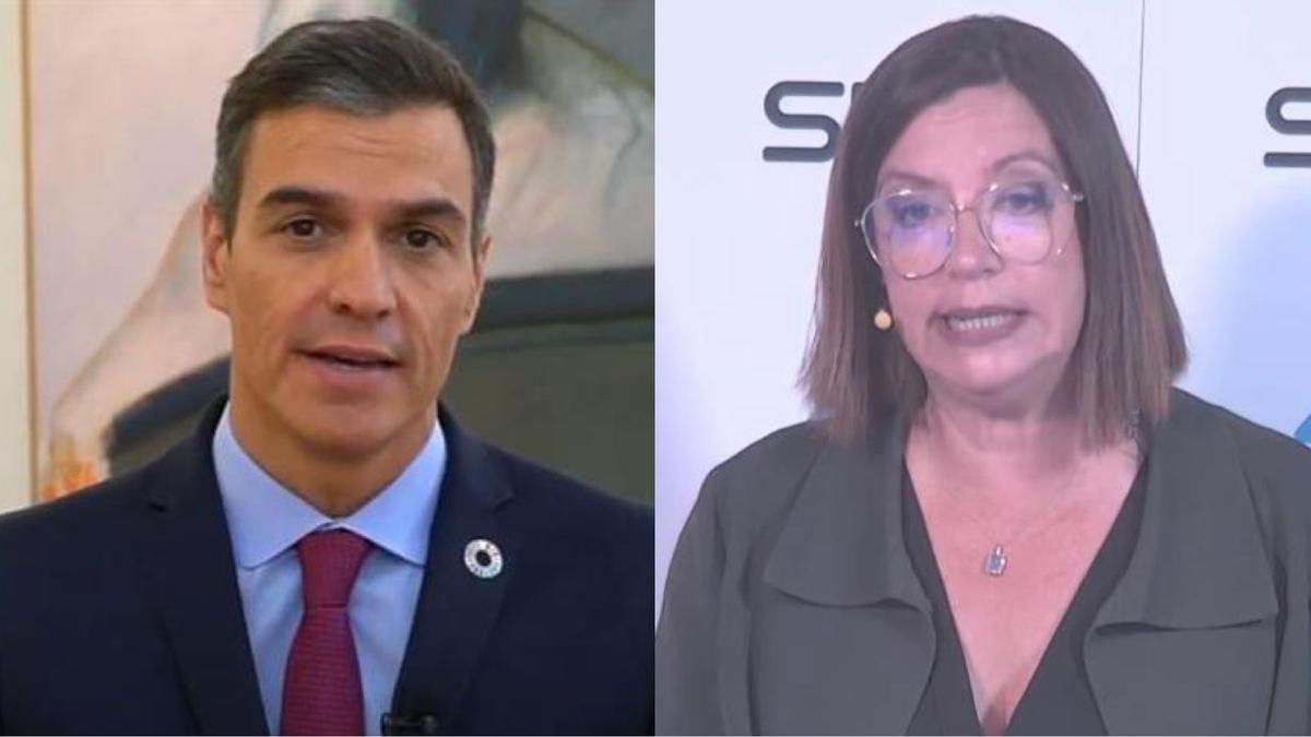 Pedro Sánchez se queda sin palabras cuando ÀngelsBarceló le hace ver lo que acaba de decir.