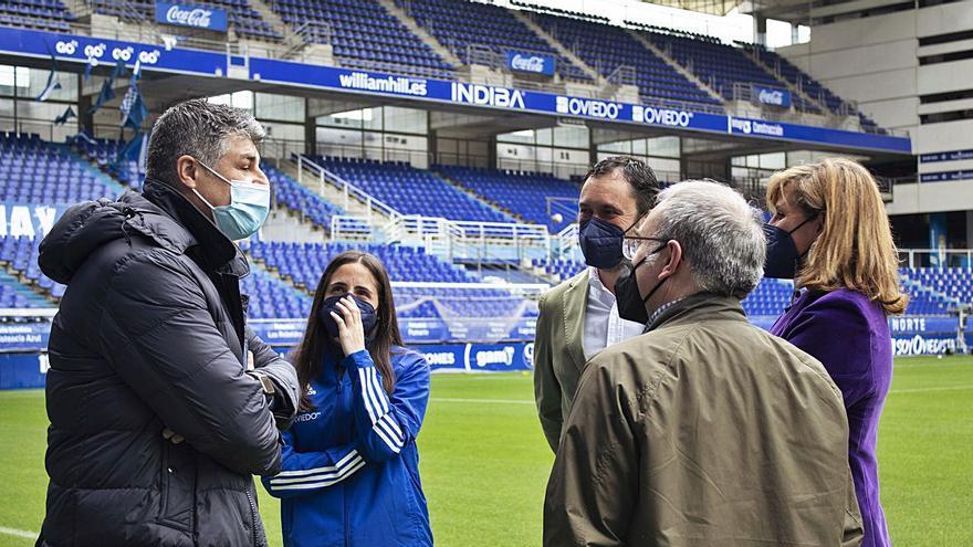 """Isina, capitana del Real Oviedo Femenino: """"Esperemos que sea el primero de muchos partidos en el Tartiere"""""""