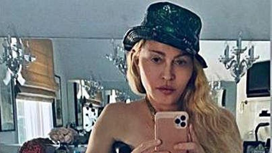Madonna se exhibe con su muleta