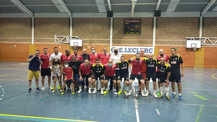 Campeones en la liga de veteranos de fútbol sala