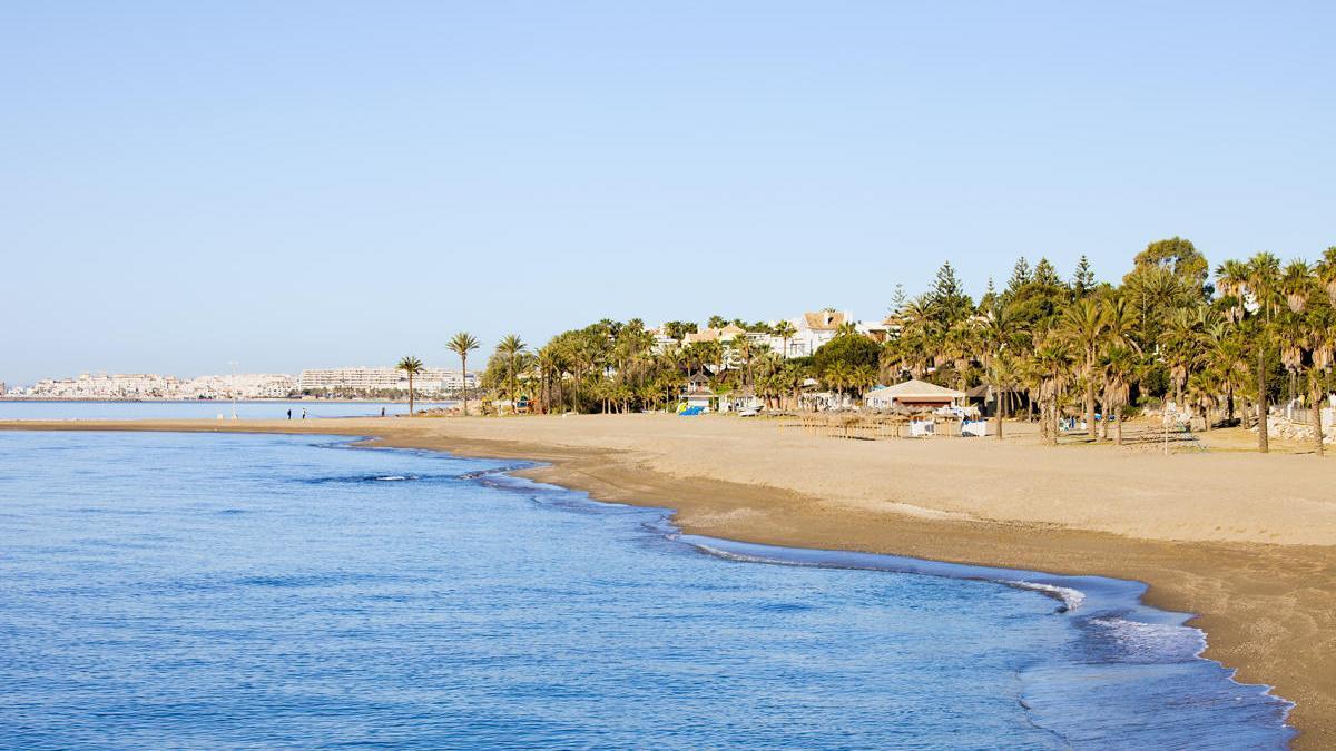 Espectacular playa en Marbella.