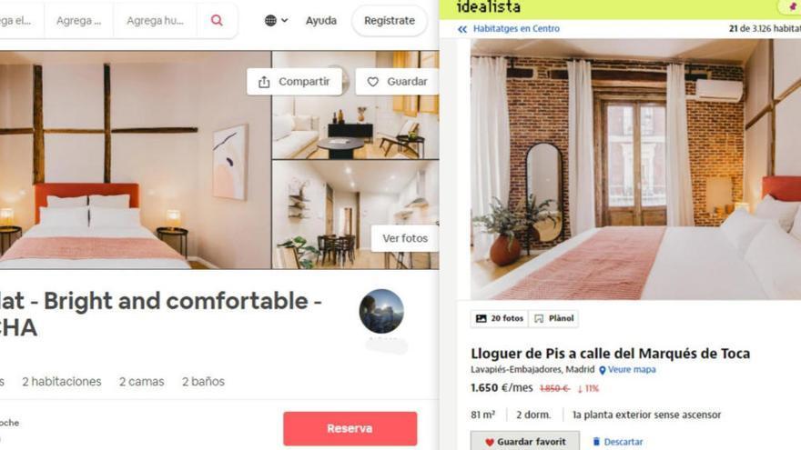 D'Airbnb a Idealista: pisos turístics busquen llogaters temporals