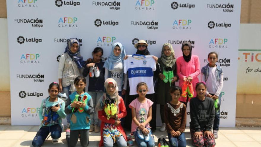 La UD Granadilla, en el Día Internacional del Refugiado