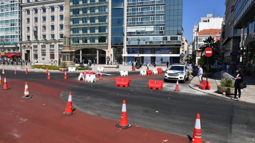 Los Cantones pierden dos carriles de tráfico como antesala de su próxima peatonalización