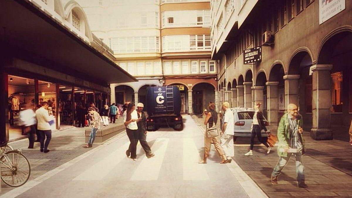 Imagen virtual del proyecto de remodelación del entorno del mercado de San Agustín.