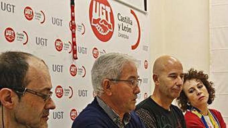 Jerónimo Cantuche durante la rueda de prensa.