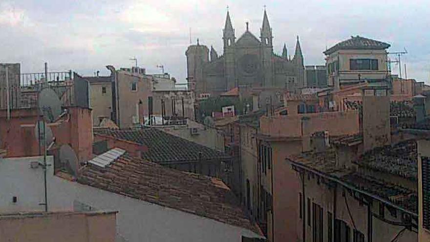 Niebla y lluvias en Mallorca