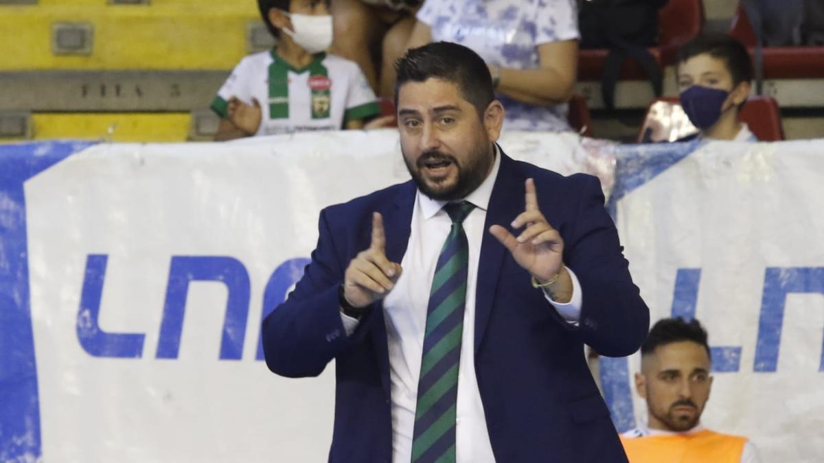 Josan González, en el encuentro Córdoba Futsal-Levante del pasado sábado.