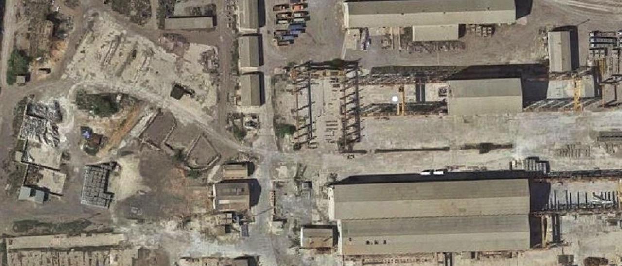 En la parte izquierda de la imagen, suelo propiedad de GLP en Sagunt. | LEVANTE-EMV