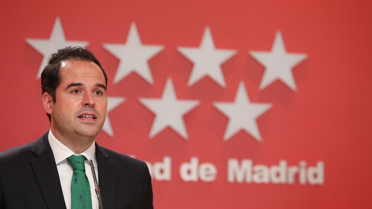 Ignacio Aguado, el vicepresidente de la Comunidad de Madrid.