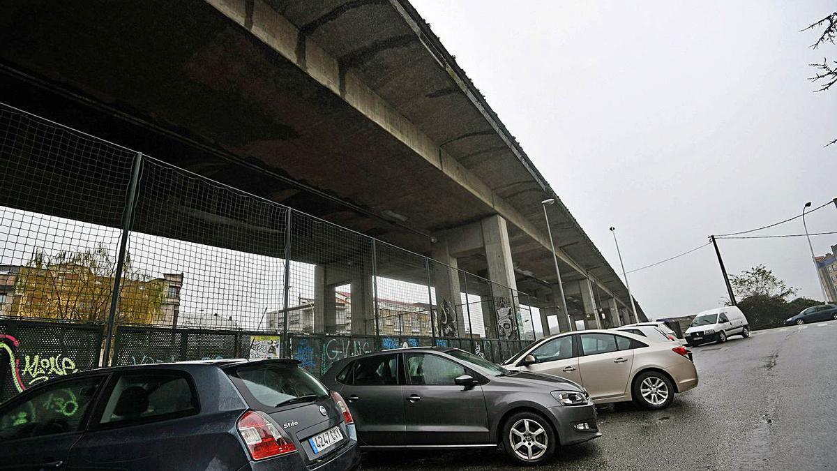 Viaducto de la AP-9 a su paso por Pontevedra por el que ha sido expedientado Audasa. |   // GUSTAVO SANTOS