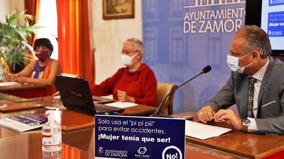 Presentación de la campaña en el Ayuntamiento de Zamora.   Emilio Fraile