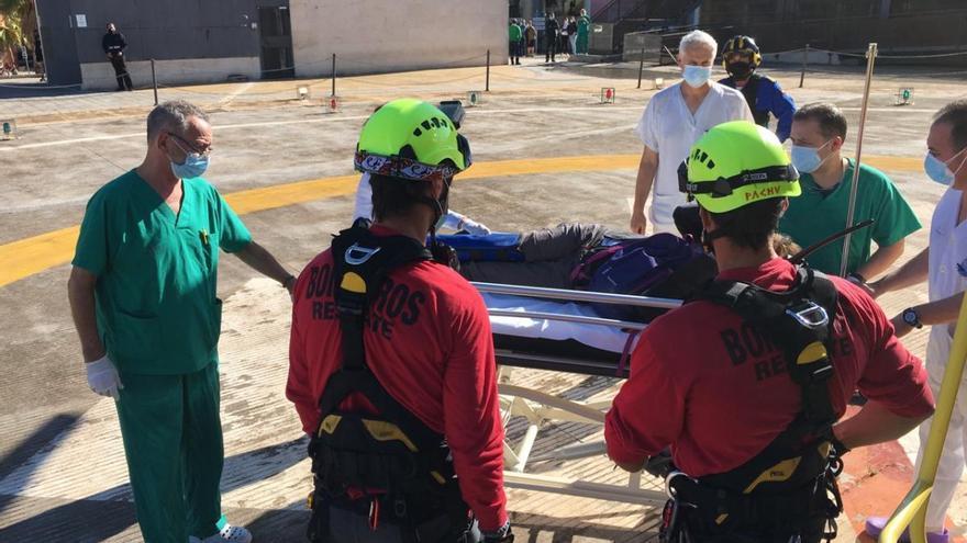 Rescatada en helicóptero tras sufrir un esguince de tobillo en el Garruchal